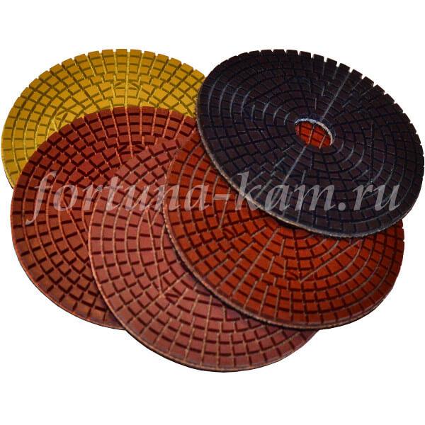 Алмазные гибкие диски W «5 шагов» 100 мм.