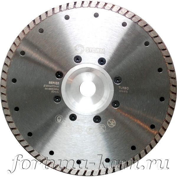 Отрезной диск Storm с фланцем 230 мм.