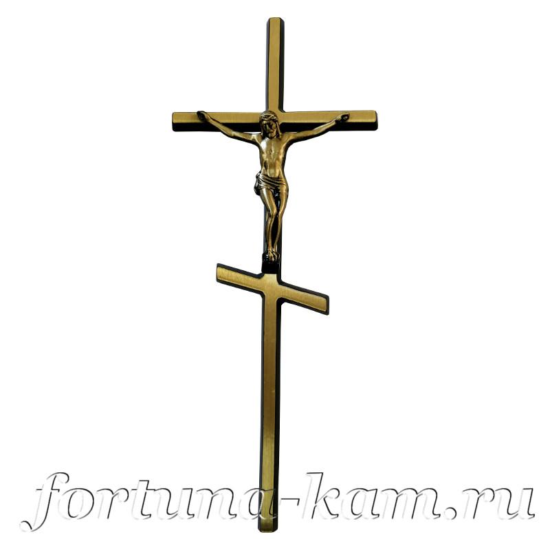 Латунный православный крест с распятием, 30 см. №10591
