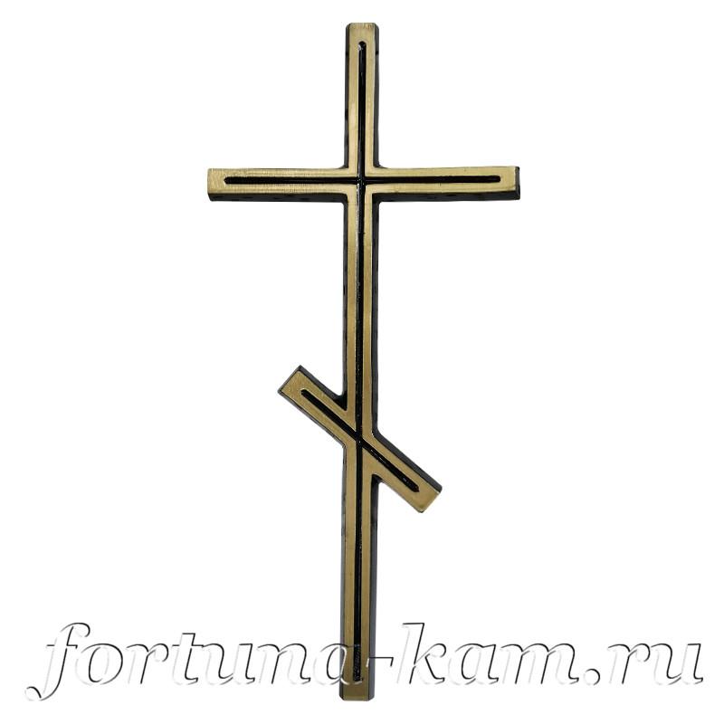 Православный крест из латуни, 29 см. №10410