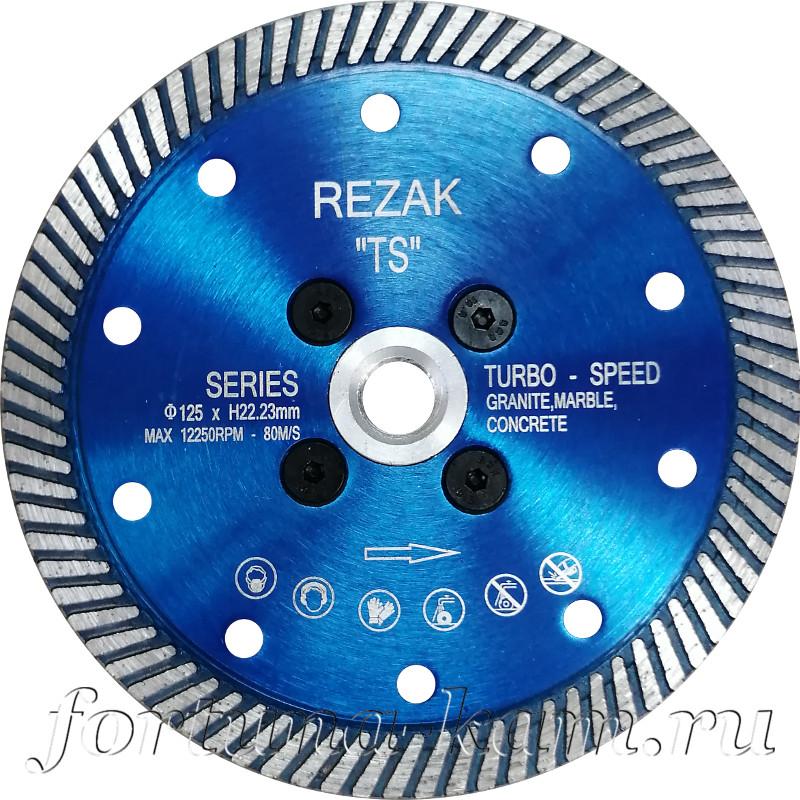 Отрезной диск Rezak с фланцем 100 мм.