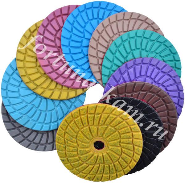 Алмазные гибкие диски Яблонь 100 мм.