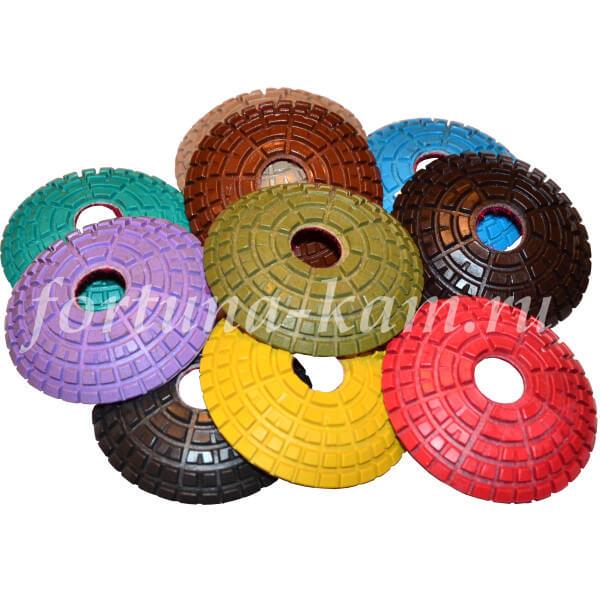 Алмазные гибкие диски Яблонь сферические 80 мм.