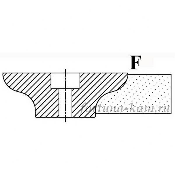 Фреза сегментная профиль F №00