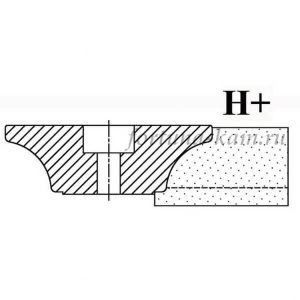 Фреза сегментная профиль H+ №00