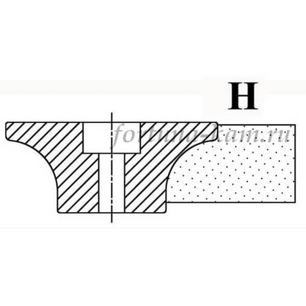 Фреза сегментная профиль H №00