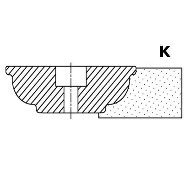 Фреза сегментная профиль K №00