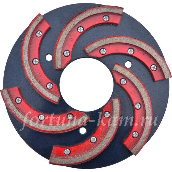 Шлифовальный металлический круг с алмазными сегментами 250 мм.