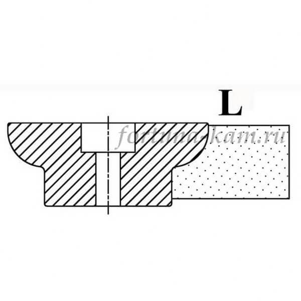 Фреза сегментная профиль L №00