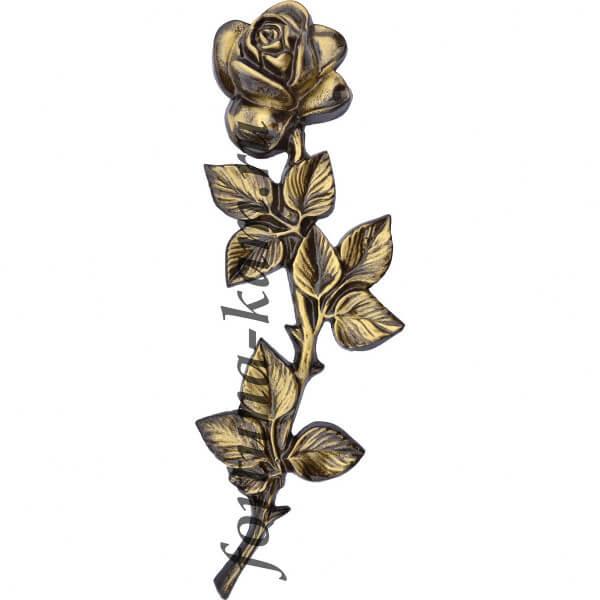 Роза из латуни, 27 см. №10408