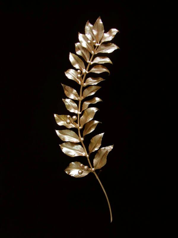 Лавровая ветвь из латуни