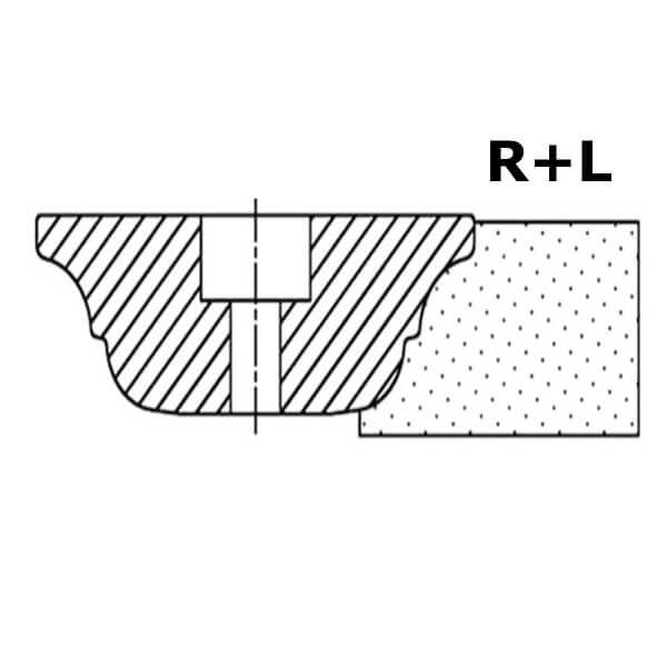 Фреза сегментная профиль R+L №00