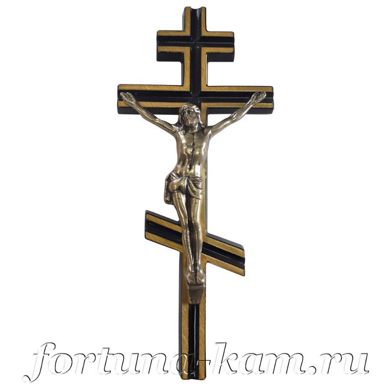 Латунный православный крест с распятием, 20 см. №10628