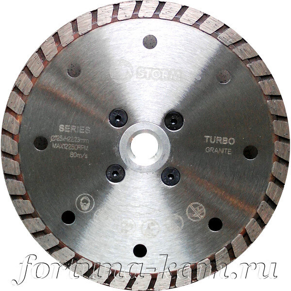 Отрезной диск Storm с фланцем 125 мм.