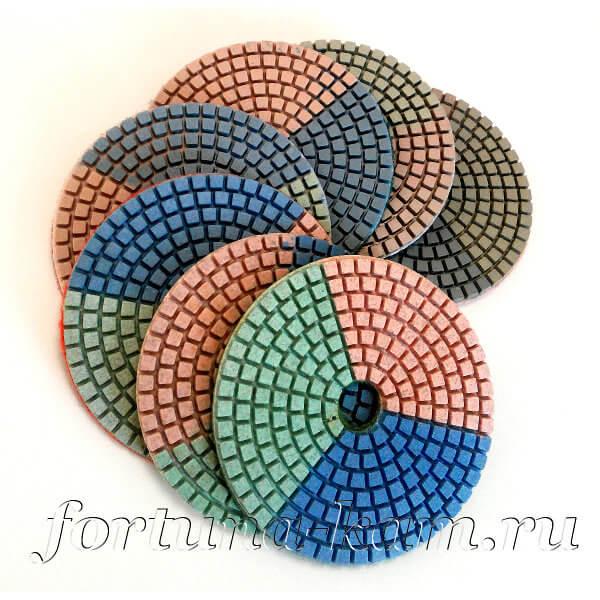 """Алмазные гибкие диски """"триколор"""" Huangchang 100 мм."""