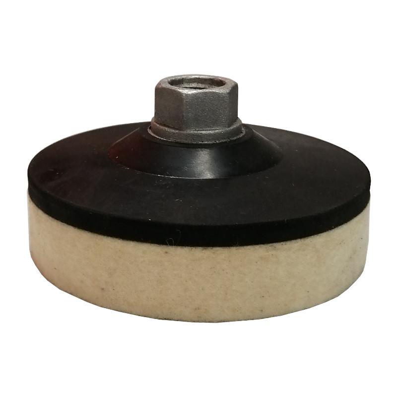 Войлочный круг на резиновом переходнике d100хМ14