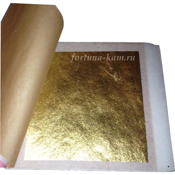 Золото сусальное 80х80 мм. 25 листов